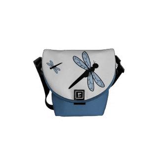 Cute Vector Dragonfly Messenger Bags