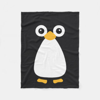 Cute Vector Penguin Fleece Blanket