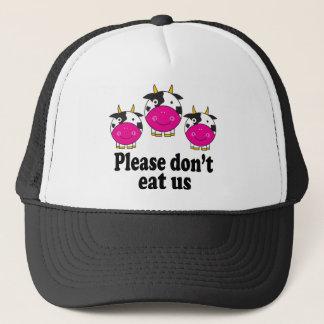 Cute Vegan Cows Hat