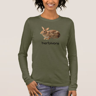 Cute Vegan Herbivore Cottontail Wild Bunny Rabbit Long Sleeve T-Shirt