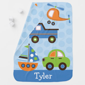 Cute Vehicle Baby Blanket