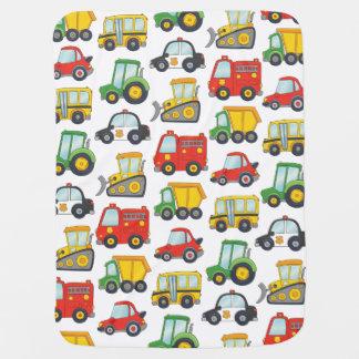 Cute Vehicles Baby Blanket