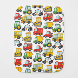 Cute Vehicles Burp Cloth