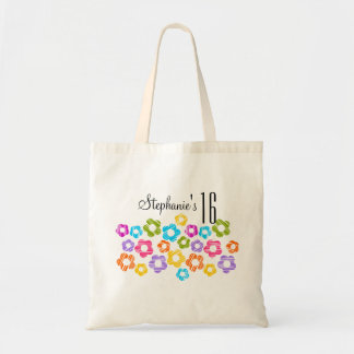 Cute vibrant flowers Sweet Sixteen Necklace Canvas Bag