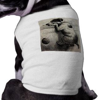 Cute Victorian antique Dog illustration Pet Tshirt