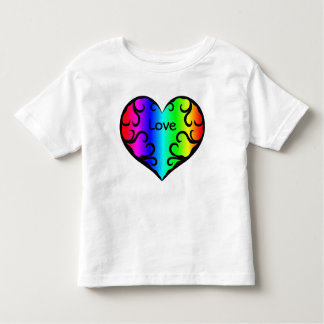 Cute victorian rainbow heart for toddlers shirts