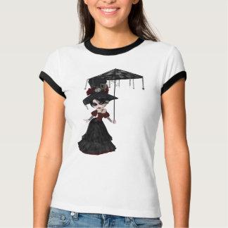 Cute Victorian Steampunk Goth Girl & Parasol T-Shirt