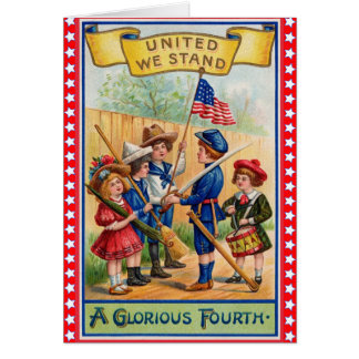 Cute Vintage 4th of July Card
