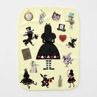 Cute Vintage Alice in Wonderland Burp Cloth