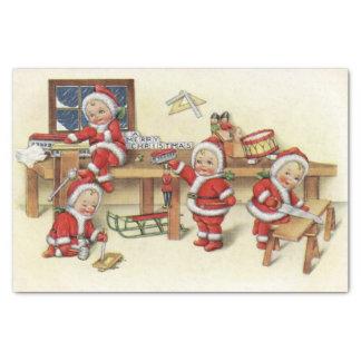 Cute Vintage Baby Santa Illustration Tissue Paper