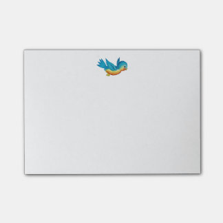 Cute Vintage Bird Post-it Notes