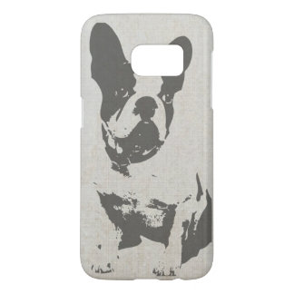 Cute Vintage Black and White French Bulldog Samsung Galaxy S7 Case