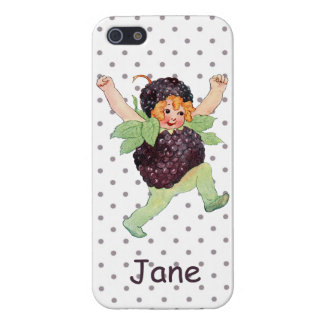 Cute Vintage Blackberry Girl Cover For iPhone 5