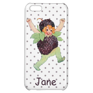 Cute Vintage Blackberry Girl iPhone 5C Cover