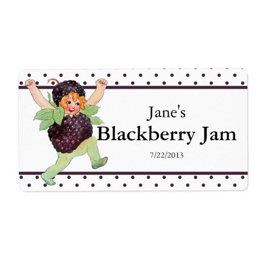 Cute Vintage Blackberry Jam