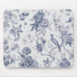 Cute Vintage Blue And White Bird Floral