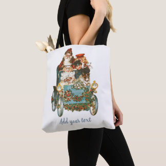 Cute Vintage Car | Santa Claus Christmas Tote Bag