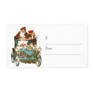Cute Vintage Car | To From Santa Claus Christmas