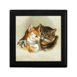 Cute Vintage Cats Jewelry Box
