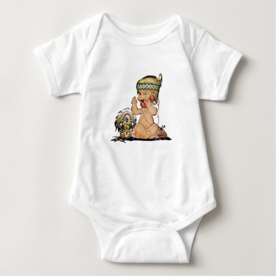 Cute Vintage Child on Telephone No3 Baby Bodysuit