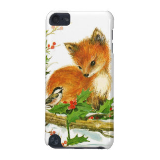 Cute Vintage Christmas Foxes iPod Touch 5G Covers
