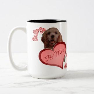 Cute VIntage Cocker Spaniel Valentine Mug
