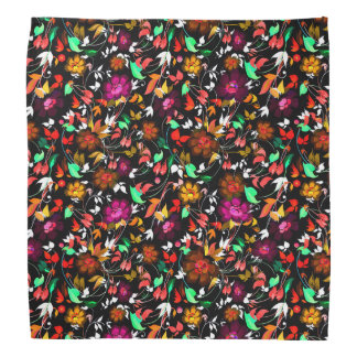 Cute vintage colorful floral texture bandana