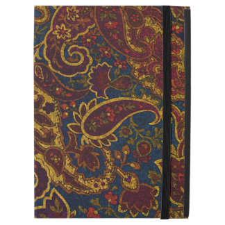 "Cute vintage dark brown paisley design iPad pro 12.9"" case"