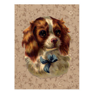 Cute Vintage Dog Print Postcard