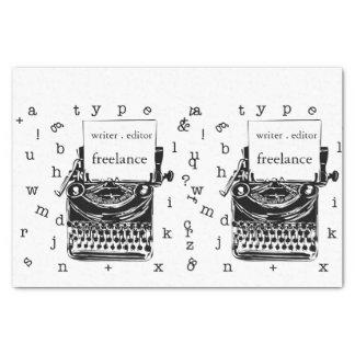 Cute Vintage handdrawin  Typewriter Tissue Paper