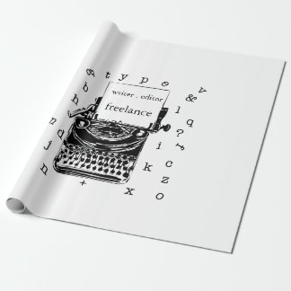 Cute Vintage handdrawin  Typewriter Wrapping Paper