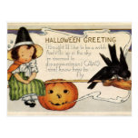 Cute Vintage Happy Halloween Greeting Post Cards