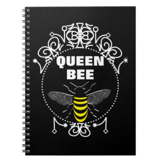 Cute Vintage Inspired Queen Bee Girly Fun Graphic Notebook