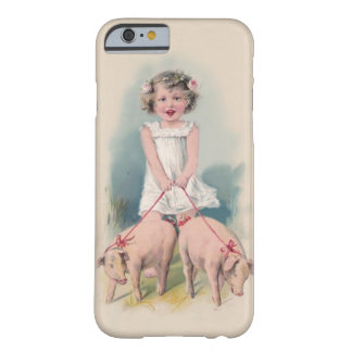 Cute Vintage iPhone 6 case - Young Gril Walking Pi