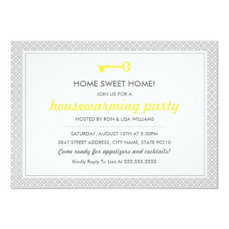 Cute Vintage Key Housewarming Invitation