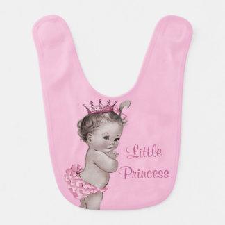Cute Vintage Little Princess Baby Pink Bibs
