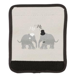 Cute Vintage Mr. & Mrs. Bride and Groom Elephants Handle Wrap