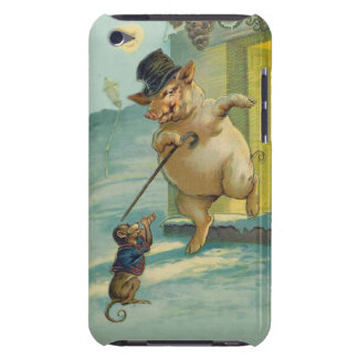 Cute Vintage Pig and Monkey - Funny Animals iPod Case-Mate Cases