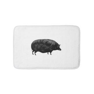 Cute Vintage Pig Bathroom Mat