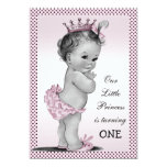 "Cute Vintage Princess 1st Birthday Party 5"" X 7"" Invitation Card"