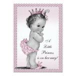 "Cute Vintage Princess Baby Shower 5"" X 7"" Invitation Card"