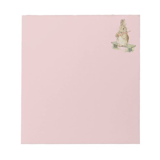 CUTE VINTAGE RABBIT ,  BUNNY  PINK  NOTEPAD