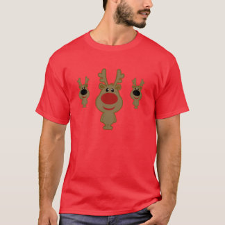 Cute Vintage Red Reindeer Illustration T-Shirt