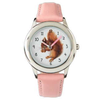 Cute Vintage Red Squirrel Watch
