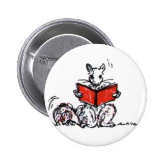 Cute Vintage Squirrels Reading Books Pins