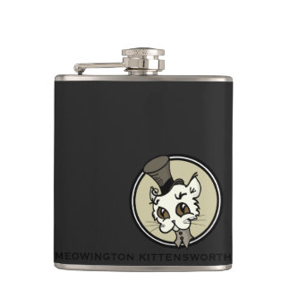 CUTE VINTAGE STYLE CARTOON KITTY CAT FLASK