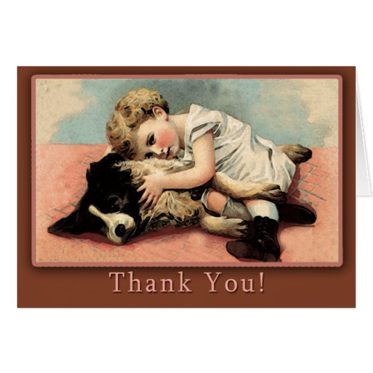 Cute Vintage Thank You Card