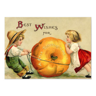 Cute Vintage Thanksgiving Greeting Card