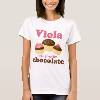 Cute Viola Will Play for Chocolate T-Shirt