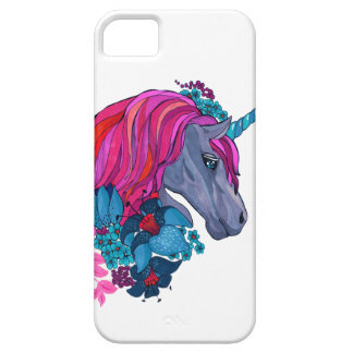 Cute Violet Magic Unicorn Fantasy Illustration Case For The iPhone 5